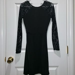 Maxi black lace dress